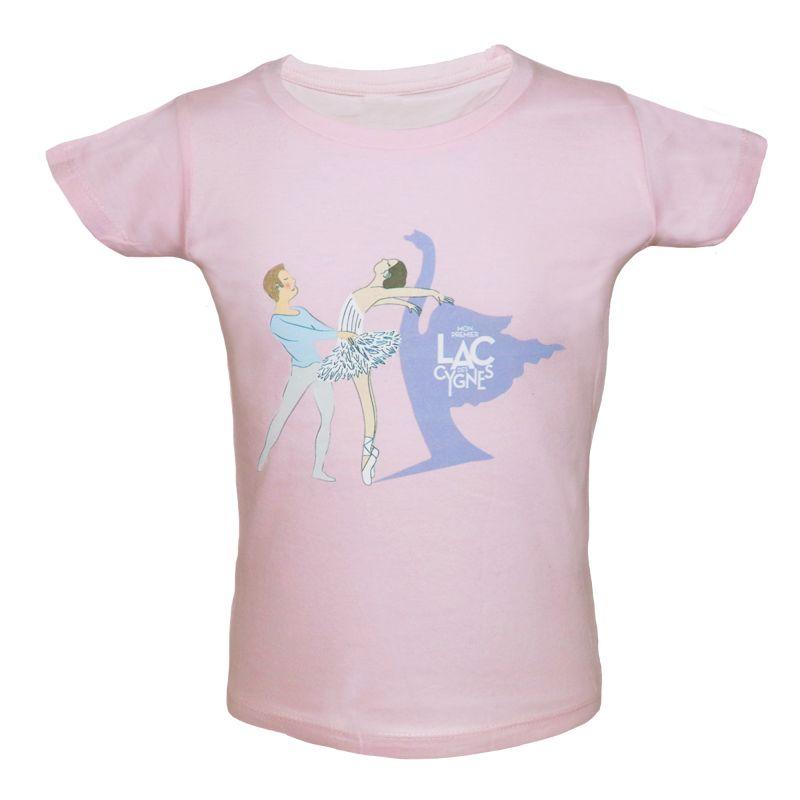 TEE SHIRT ENFANT ROSE DANSEURS