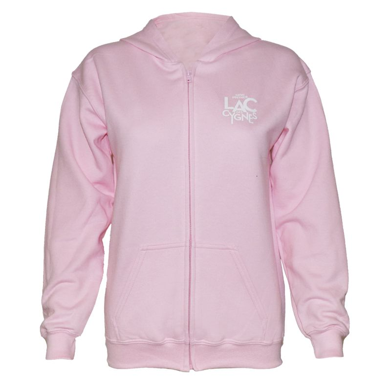 SWEAT CAPUCHE ZIPPE ENFANT ROSE